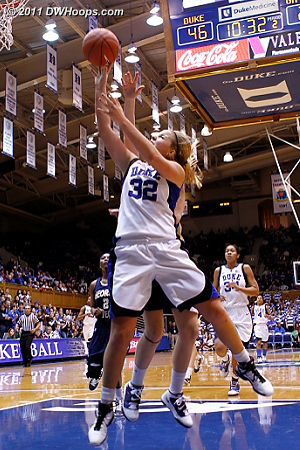 Liston fouled in the paint as Duke continues to pull away.  - Duke Tags: #32 Tricia Liston