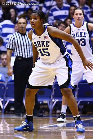 Richa Jackson back on the home floor after missing about a month with a shoulder injury  - Duke Tags: #15 Richa Jackson