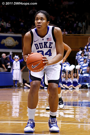 A Krystal Thomas put Duke up by 30  - Duke Tags: #34 Krystal Thomas