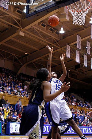 Richa Jackson scores her first home hoop of 2011.  - Duke Tags: #15 Richa Jackson