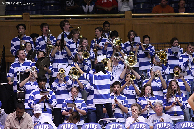 The Duke Pep Band still going strong after a long day -- in their marching incarnation they performed at the Duke / Boston College football game, honoring their senior members.  - Duke Tags: Duke Pep Band