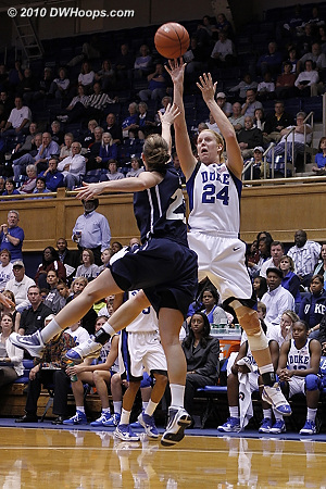 Scheer hits another basket as Duke pulls away.  - Duke Tags: #24 Kathleen Scheer