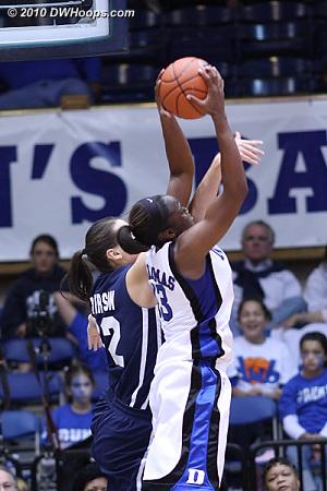 Karima grabs a rebound.