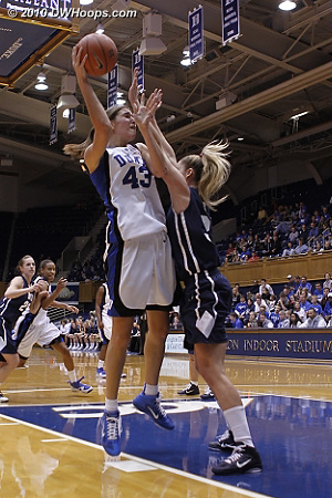 Allison Vernerey gets good position to score.  - Duke Tags: #43 Allison Vernerey