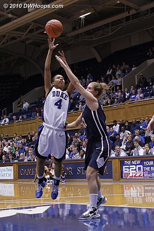 Back-to-back hoops from Scheer and Wells put the game out of reach.  - Duke Tags: #4 Chloe Wells