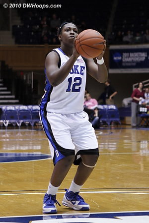 Gray's first career points came from the free throw line as she made one of two.  - Duke Tags: #12 Chelsea Gray