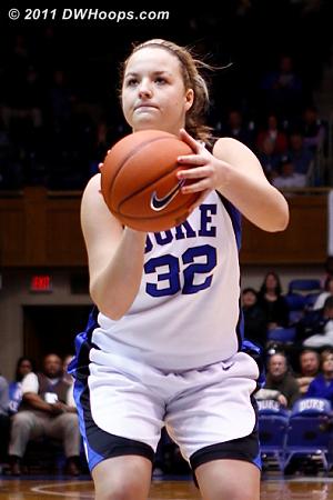 Liston on the stripe, her free throw to be erased by a Duke lane violation  - Duke Tags: #32 Tricia Liston