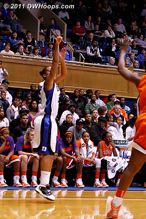 Shay Selby answered Clemson's 5th basket with Duke's 22nd, a corner trey.  - Duke Tags: #3 Shay Selby