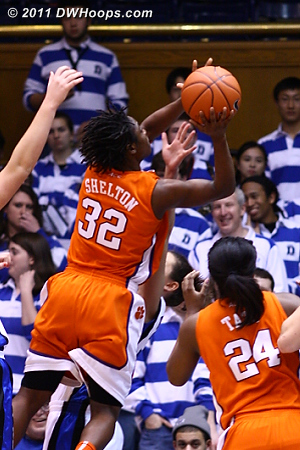 Shelton gets another good look again as Clemson managed 25 second half points.