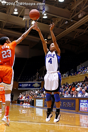 Chloe smartly pulls up in transition and drains it, Duke leads by 54.  - Duke Tags: #4 Chloe Wells