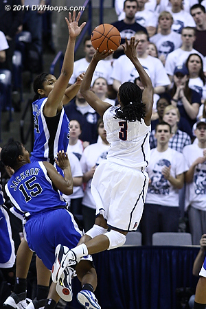 Richa Jackson trips up Tiffany Hayes  - Duke Tags: #15 Richa Jackson