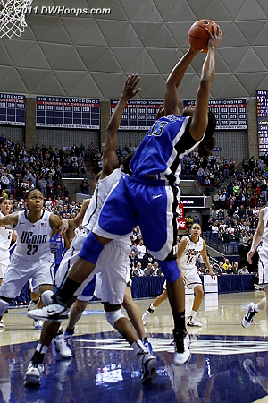 Karima Christmas grabs an offensive rebound  - Duke Tags: #13 Karima Christmas