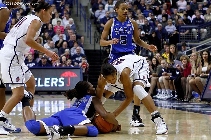 Karima Christmas forces a tieup with Maya Moore  - Duke Tags: #13 Karima Christmas