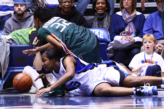 Richa's diving for this loose ball drew Stroman's third foul, more big trouble for Miami.  - Duke Tags: #15 Richa Jackson 