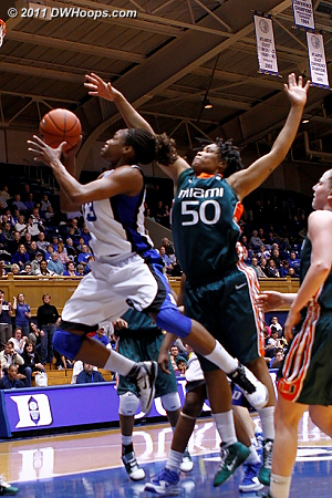 With Stroman back on the bench, Karima soars to the hoop with only token pressure from Maria Brown.  Duke is up by 13 and pulling away.  - Duke Tags: #13 Karima Christmas