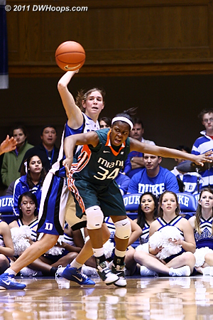 Another Miami turnover  - Duke Tags: #43 Allison Vernerey 