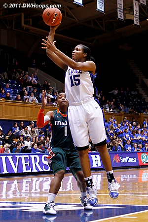 Richa Jackson goes up for a layup  - Duke Tags: #15 Richa Jackson 