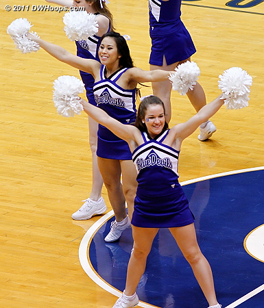 Duke Cheerleaders during the final media timeout  - Duke Tags: Duke Cheerleaders 