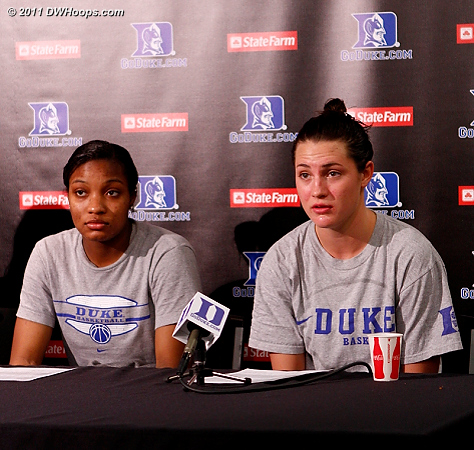 Richa Jackson (left) and Haley Peters, who said,