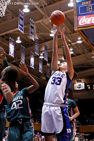 Peters hits her second consecutive hoop, starting a 9-0 run that put Duke ahead for good.  - Duke Tags: #33 Haley Peters