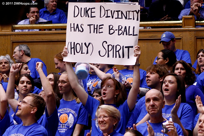 Duke Divinity has the B-Ball (Holy) Spirit - and they were loud tonight!  - Duke Tags: Fans 