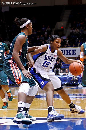 Richa Jackson makes a nice spin move  - Duke Tags: #15 Richa Jackson 