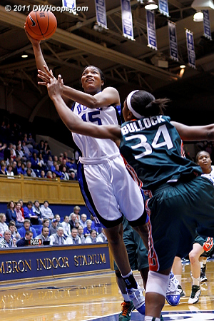 Richa didn't score on this layup as Duke was still looking for its first field goal.  - Duke Tags: #15 Richa Jackson 