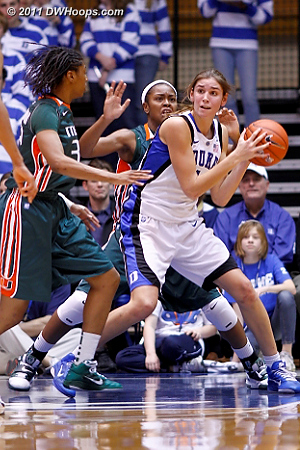 Allison gets the ball in the paint  - Duke Tags: #43 Allison Vernerey