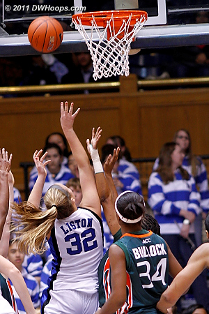 Tricia Liston scores on a layup  - Duke Tags: #32 Tricia Liston 