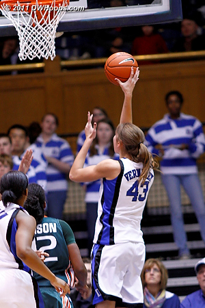 With Bullock on the bench Vernerey had an easy lane to the basket.  - Duke Tags: #43 Allison Vernerey