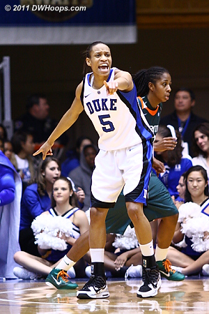 Jas working hard on defense  - Duke Tags: #5 Jasmine Thomas 