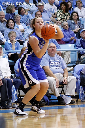 Liston gets a great look at a three but missed - she was 0-5 on the evening