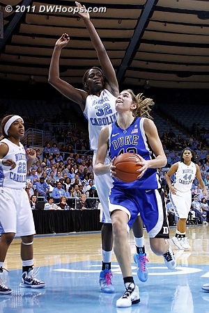 Alli has driven past Rolle into easy layup position