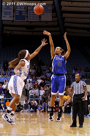 After Duke got a defensive stop, Jas hit this trey to close the gap to 62-60, 36 ticks left