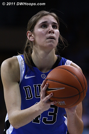 Alli missed the free throw, Duke's only trip of the first half.  The Heels had 10 freebies but only converted 3.
