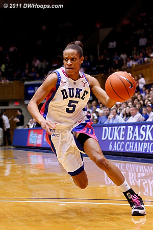 Jas on the bounce  - Duke Tags: #5 Jasmine Thomas