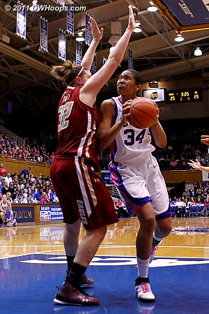 Krystal Thomas takes it right back at Murphy  - Duke Tags: #34 Krystal Thomas