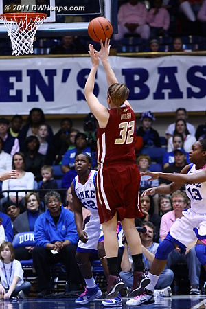 Stefanie Murphy drew first blood for BC with this jumper