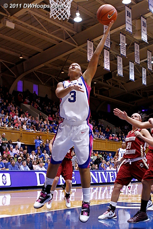 Selby's layup capped an 8-0 Duke run, Devils led 45-38  - Duke Tags: #3 Shay Selby