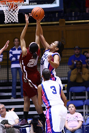 Krystal Thomas rejects BC's Shayra Brown  - Duke Tags: #34 Krystal Thomas