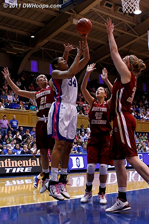Krystal Thomas got the pass from Gray and scored, Duke's lead has ballooned to 15.  - Duke Tags: #34 Krystal Thomas
