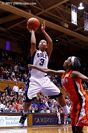 Shay was held scoreless, her best look inside the arc was on this layup.  - Duke Tags: #3 Shay Selby