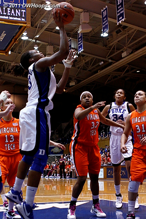 Karima follows her own miss for an easy layup  - Duke Tags: #13 Karima Christmas
