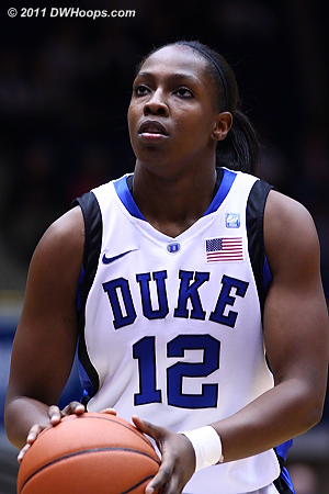 Chelsea Gray scored Duke's first four points, two from the floor and two from the line.