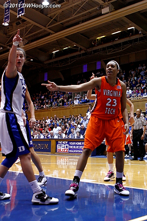 A lot of finger-pointing, but it was ultimately Duke's ball  - Duke Tags: #33 Haley Peters