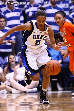Jasmine Thomas starts another Duke break  - Duke Tags: #5 Jasmine Thomas