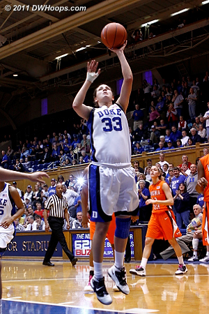 Haley provided the final Duke score, Devils win 90-40.  - Duke Tags: #33 Haley Peters