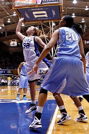 Tricia Liston started the game and scored Duke's first bucket.  - Duke Tags: #32 Tricia Liston