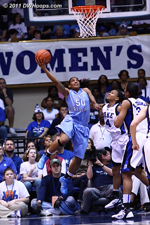 Italee Lucas looked good but the result wasn't even close.  Still UNC led by seven, 15-8.