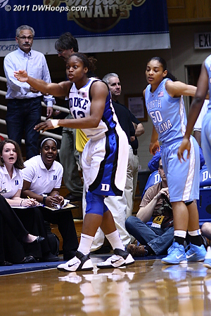Karima Christmas protests an out-of-bounds call  - Duke Tags: #13 Karima Christmas